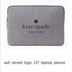 "Kate Spade 15"" Laptop Sleeve NWT"